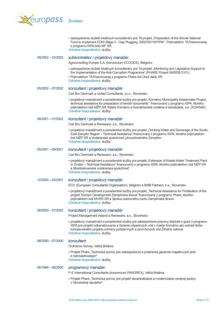 Europass CV page 3