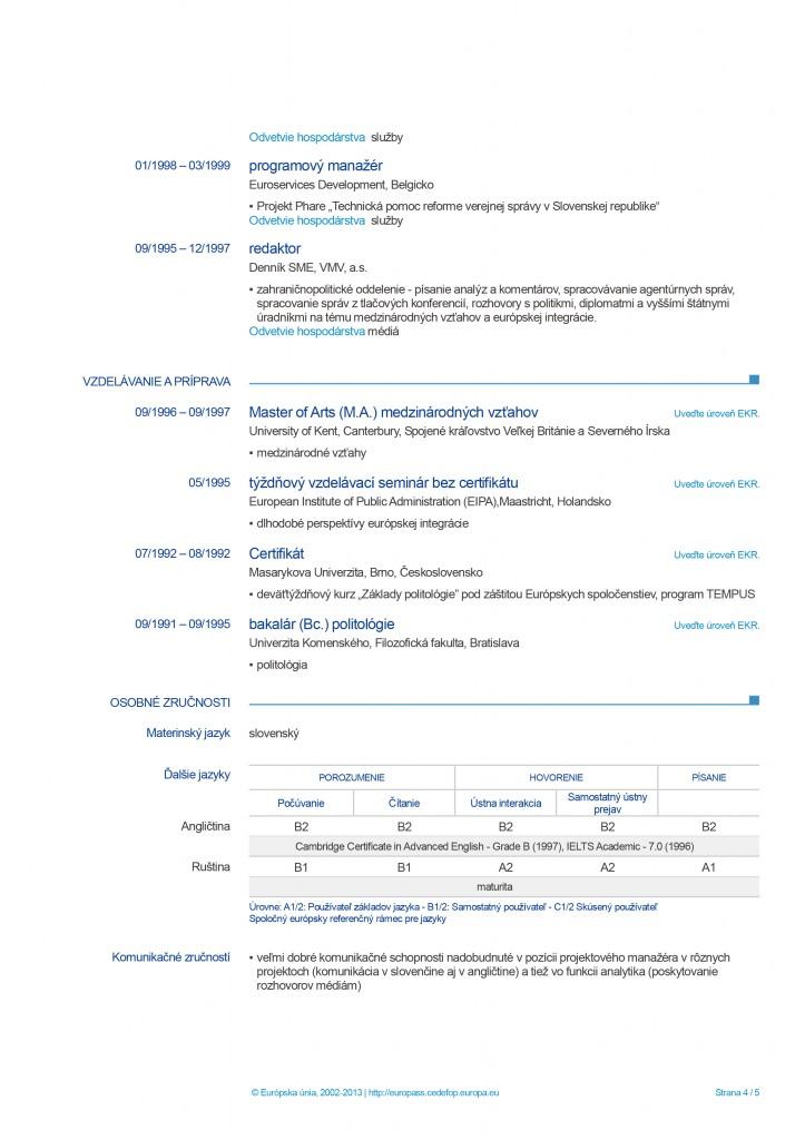 Europass CV  page 4
