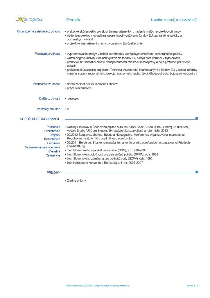 Europass CV page 5